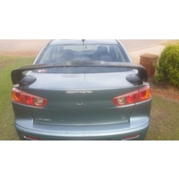 EVO X STYLE SPOILER for MITSUBISHI LANCER CJ SEDAN 2007-2015 UNPAINTED ABS