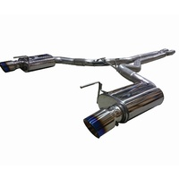 FORD MUSTANG 15-17 COUPE CAT BACK EXHAUST WITH MERGE PIPE & TITANIUM TIPS