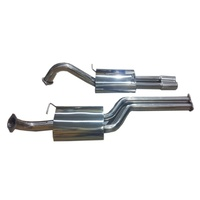 FORD FALCON UTE BA BF XR8 XR6T GT 3 INCH CAT BACK EXHAUST SYSTEM STAINLESS 2 MUFFLER