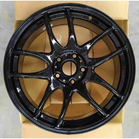 ULTREX COBRA GLOSS BLACK 18 X 8.5 RIMS FOR VW GOLF R R32 Polo Passat Jetta & AUDI A3, S3 SKODA