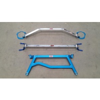 SUBARU WRX & STI MY08-14 STRUT BAR SET & FORESTER XT MY09-12 STRUT BAR SET - FRONT, REAR & H BRACE